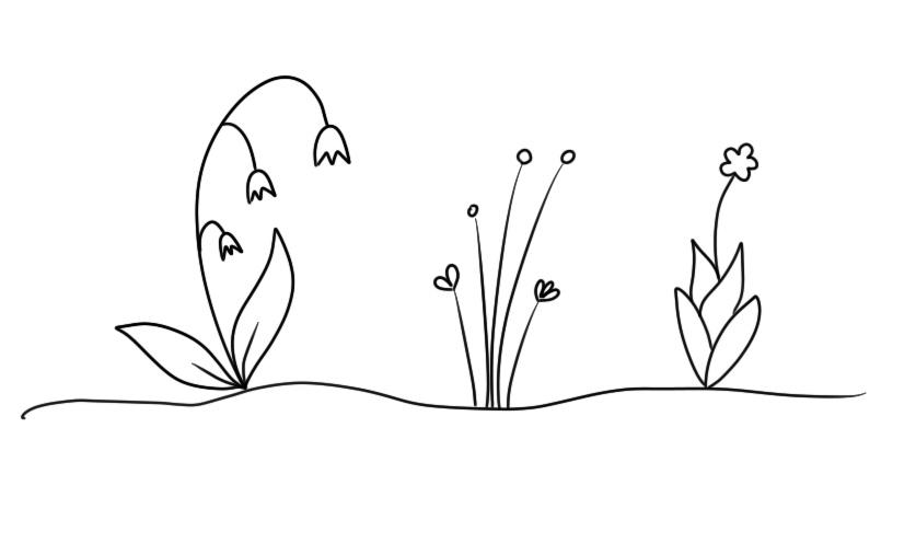 Blumen-Doodles