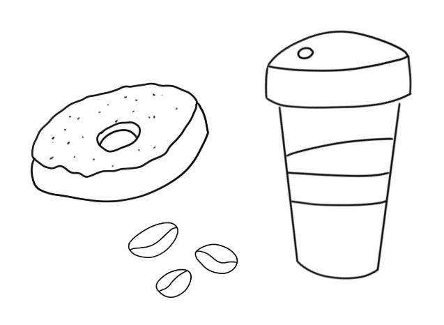 Kaffee-Doodles, Zeichnen lernen ganz einfach