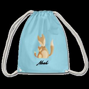 Personalisierter Turnbeutel mit Fuchs