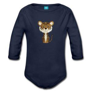 Baby-Langarmbody mit einem Tiger